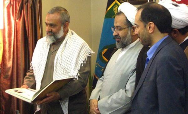 Hashemi-nezhad(Right), General Secretary for Habilian is receiving Moslehi (Middle), then head of MOIS and Naqdi (Left), then commander of the repressive Basij Force of the IRGC