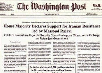 The Washington Post: house majority declares support for Iranian resistance led by Massoud Rajavi