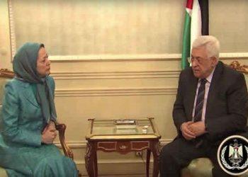 Maryam Rajavi and Mahmoud Abbas call to combat fundamentalism and terrorism in the region
