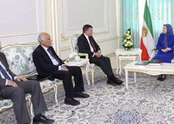 Hon. David Jones at a meeting with Iranian opposition NCRI President-elect Maryam Rajavi in Albania