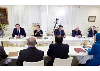 Albanian delegation meeting Mrs Rajavi