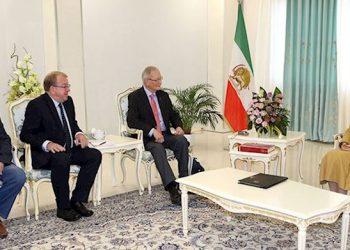 A delegation of members of the European Parliament, met with Maryam Rajavi